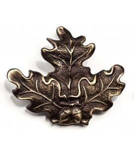 Egeløv bronze 7x8,5cm - Vildsvin