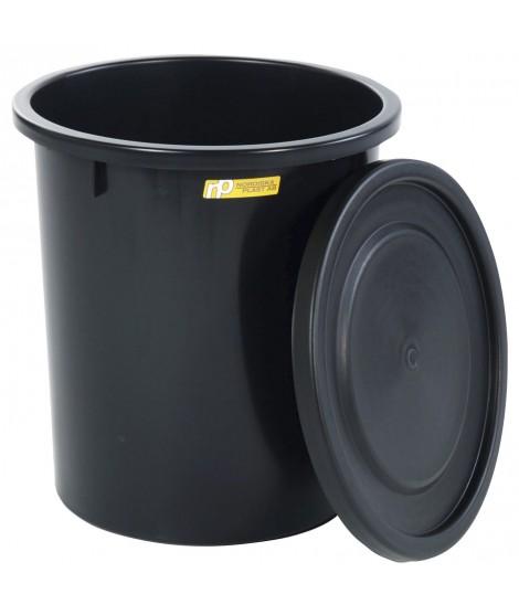 Fodertønde med låg, 35 liter