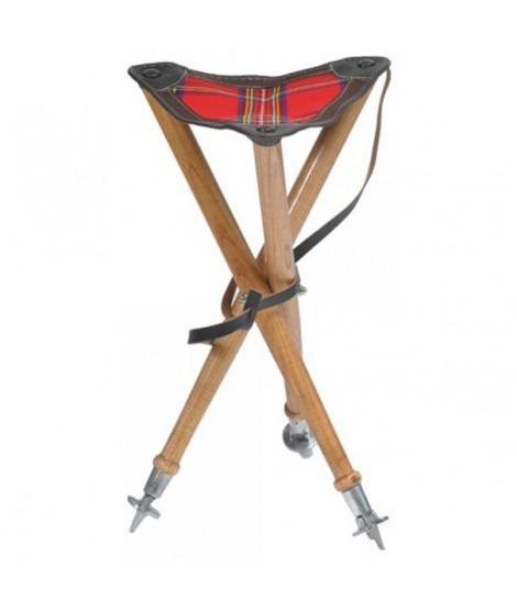 Trebenet luksus klapstol m. rødt sæde