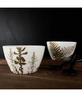 By Brorson Porcelænsskåle - Bregne & Gyvel