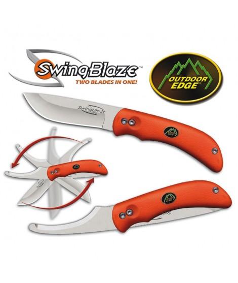 Outdoor Edge: Swingblade - Lommekniv med bugåbner. Sort