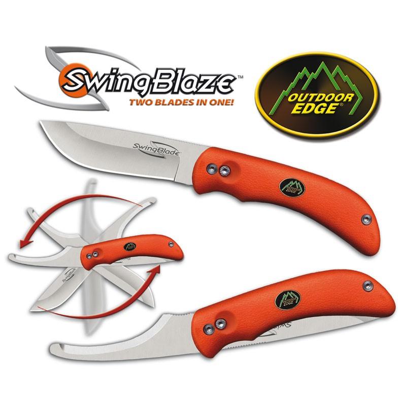 Outdoor Edge: Swingblade - Kniv med bugåbner. Orange