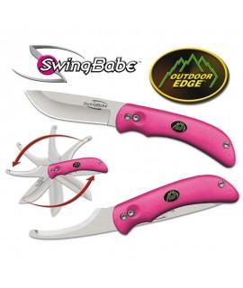 Outdoor Edge: Swingblade - kniv med bugåbner. Pink