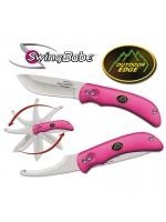 Outdoor Edge: Swingblade - Lommekniv med bugåbner. Pink