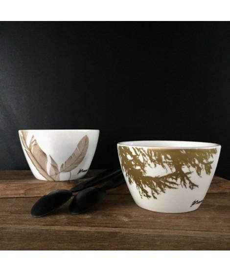 By Brorson Porcelænsskåle: Fjer & Lærk