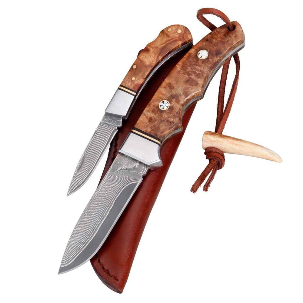 Parforce knivsæt - to jagtknive i damaskusstål.