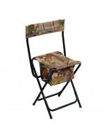 Foldbar jagtstol med ryglæn og opbevaringsboks