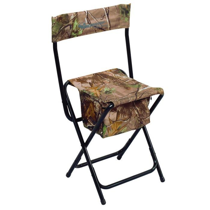 Ameristep - Foldbar jagtstol med ryglæn og opbevaringsboks