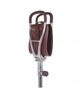 Etbenet jagtstol med brunt lædersæde - Budget