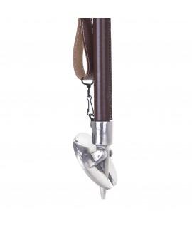Etbenet jagtstol med brunt lædersæde - Lux I