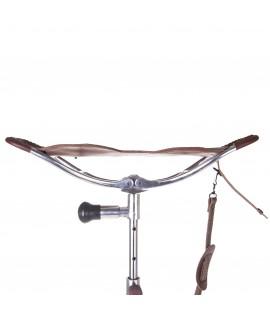 Etbenet jagtstol brunt læder - Lux II med fod