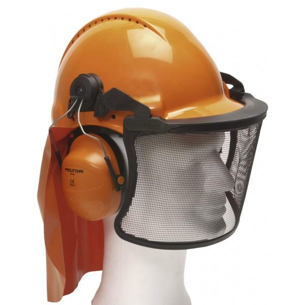 Motorsavs hjelm med høreværn