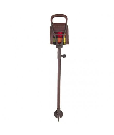 Teleskop jagtstol med brunt lædersæde - Lux I