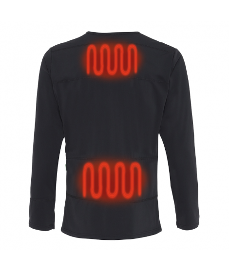 Baselayer trøje med indbygget varme