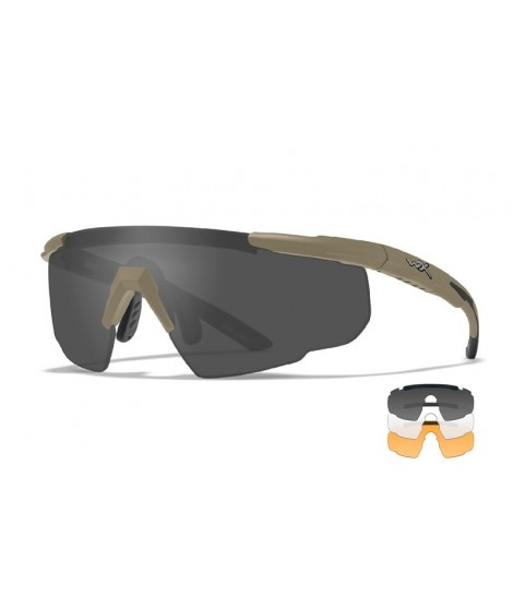 Wiley X Saber Advanced skydebrille - Smoke/Clear/Rust