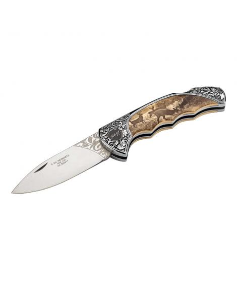 Herbertz lommekniv med hjortemotiv