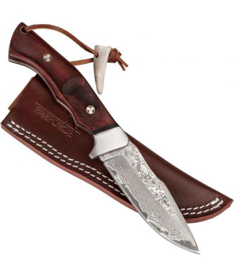 Parforce outdoor kniv i damaskusstål