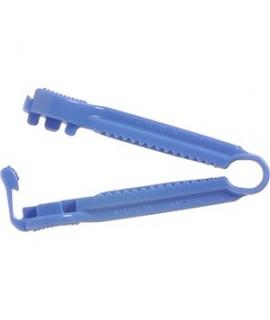 Poselukkere / kateterklemme blå plast 20 stk